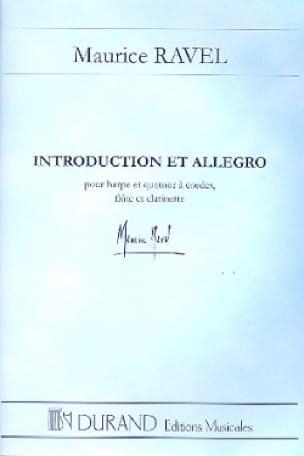 Maurice Ravel - Introduction and Allegro - Conductor - Partition - di-arezzo.com