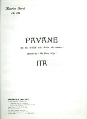 Maurice Ravel - Pavane of the Sleeping Beauty - Partition - di-arezzo.co.uk