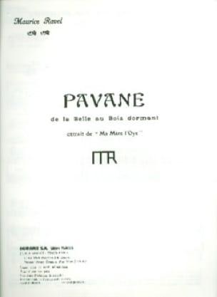 Maurice Ravel - Pavane de la bella durmiente - Partition - di-arezzo.es