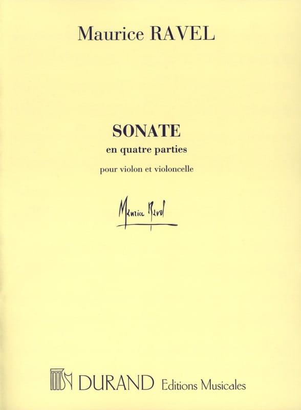 Sonate en Quatre Parties - RAVEL - Partition - 0 - laflutedepan.com