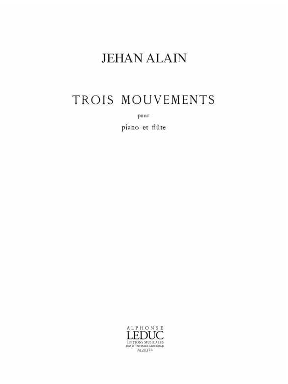 3 Mouvements - Flûte piano - Jehan Alain - laflutedepan.com
