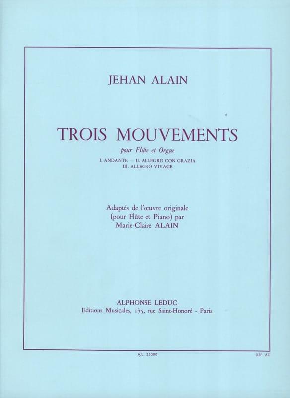 3 Mouvements - Jehan Alain - Partition - laflutedepan.com