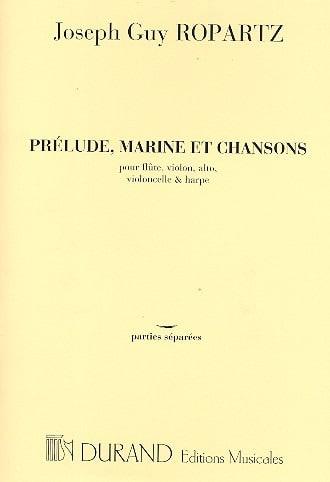 Prélude, Marine et Chansons -Parties - laflutedepan.com