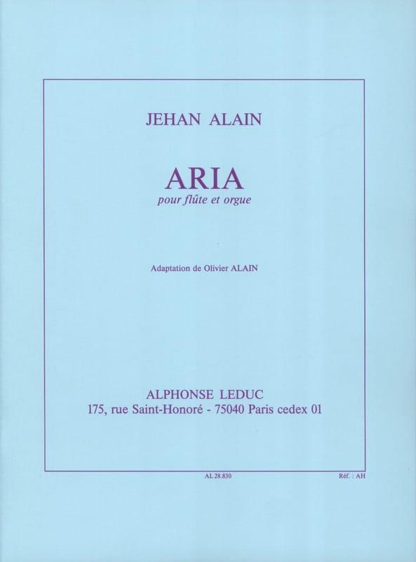 Aria - Flûte orgue - Jehan Alain - Partition - laflutedepan.com