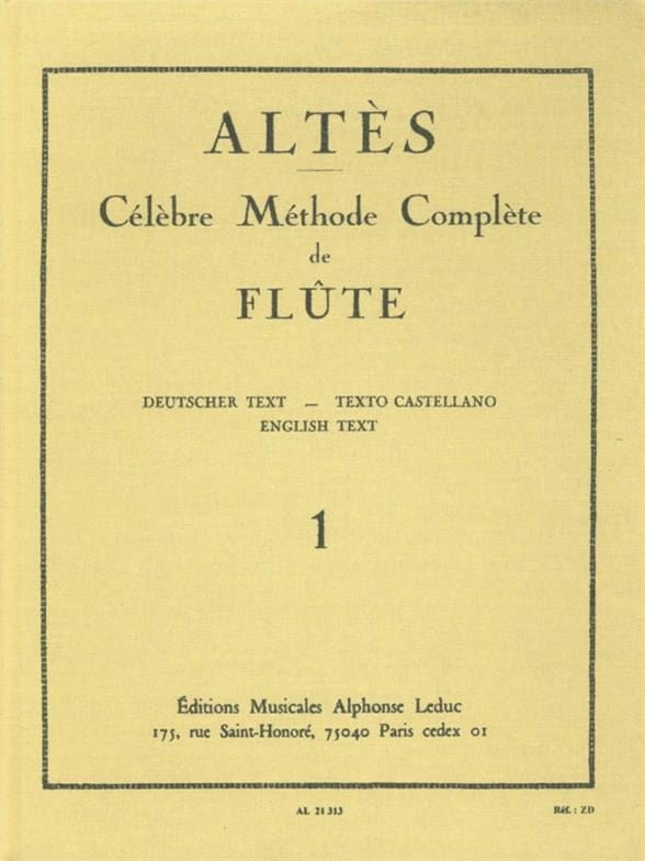 Henry Altès - Complete Flute Method - Volume 1 - Partition - di-arezzo.com