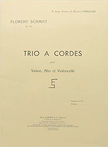 Trio à cordes op. 105 - Parties - Florent Schmitt - laflutedepan.com