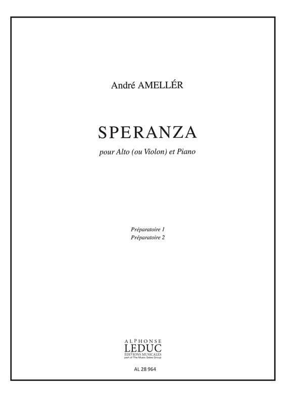 André Ameller - Speranza - Partition - di-arezzo.co.uk