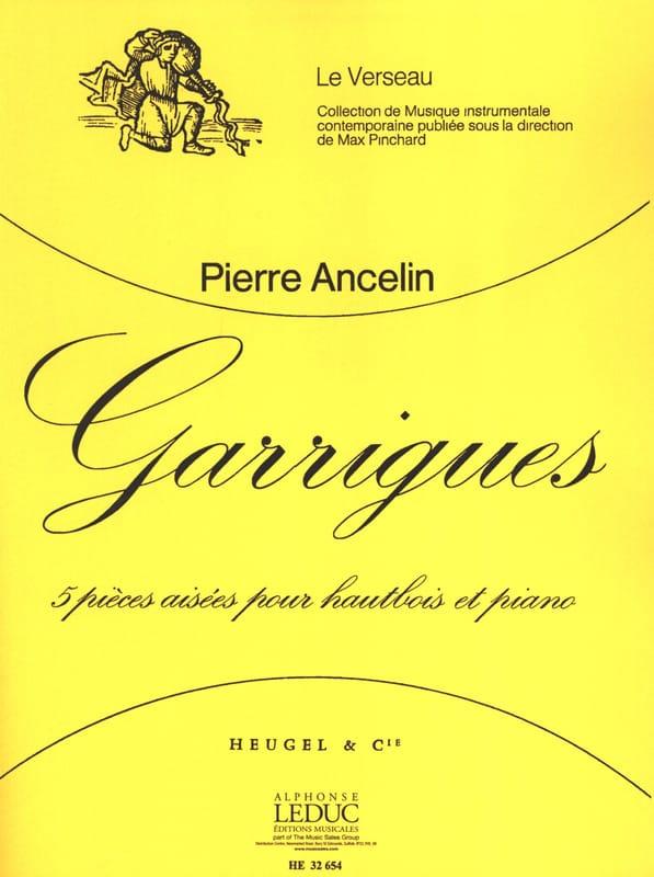 Garrigues - Pierre Ancelin - Partition - Hautbois - laflutedepan.com