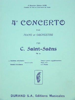 Camille Saint-Saëns - Concerto Piano n° 4 op. 44 - Conducteur - Partition - di-arezzo.fr