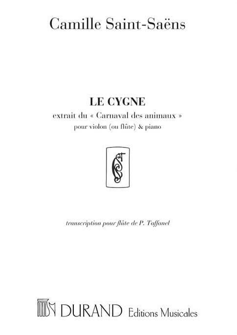 Camille Saint-Saëns - El cisne - flauta y piano - Partition - di-arezzo.es
