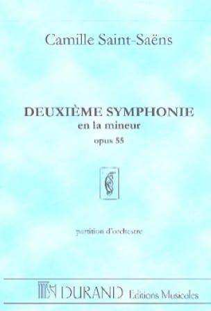 Camille Saint-Saëns - Symphonie n° 2 op. 55 - Partition - di-arezzo.fr