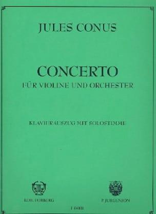 Julius Conus - Violin Concerto - Partition - di-arezzo.co.uk