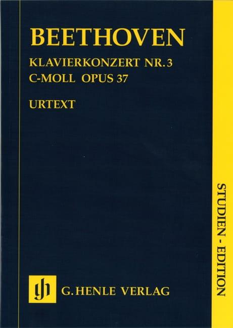 Klavierkonzert Nr. 3 -Partitur - BEETHOVEN - laflutedepan.com