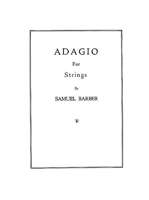 Adagio for Strings - Score - BARBER - Partition - laflutedepan.com
