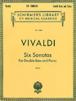 VIVALDI - 6 Sonatas - String bass - Partition - di-arezzo.co.uk