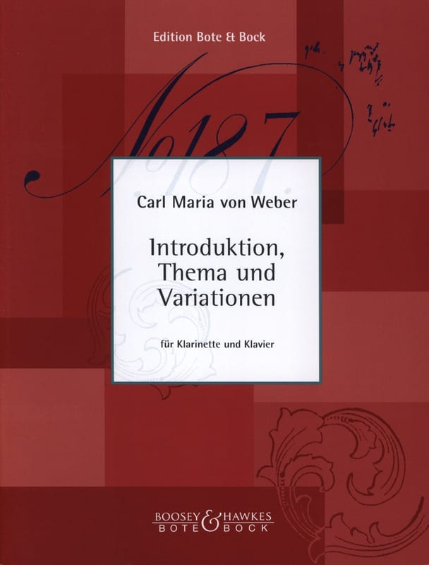 Carl Maria von Weber - Introduktion, Thema and Variationen - Klarinette Klavier - Partition - di-arezzo.com
