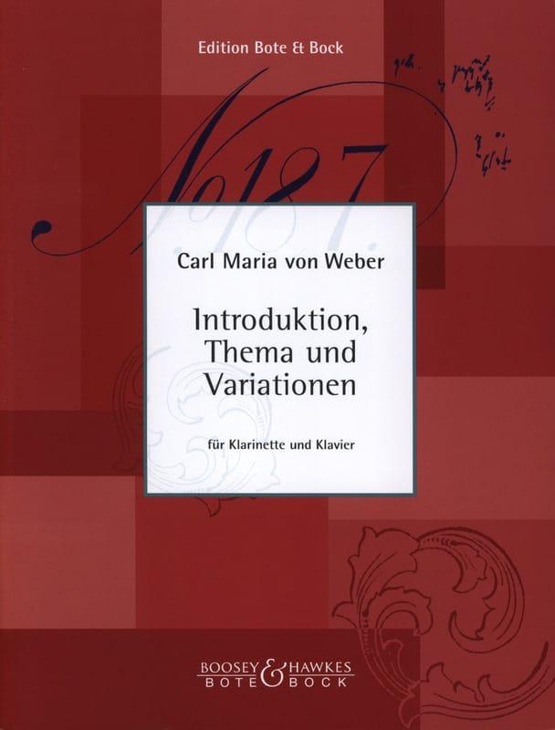 Carl Maria von Weber - Introduktion, Thema and Variationen - Klarinette Klavier - Partition - di-arezzo.co.uk