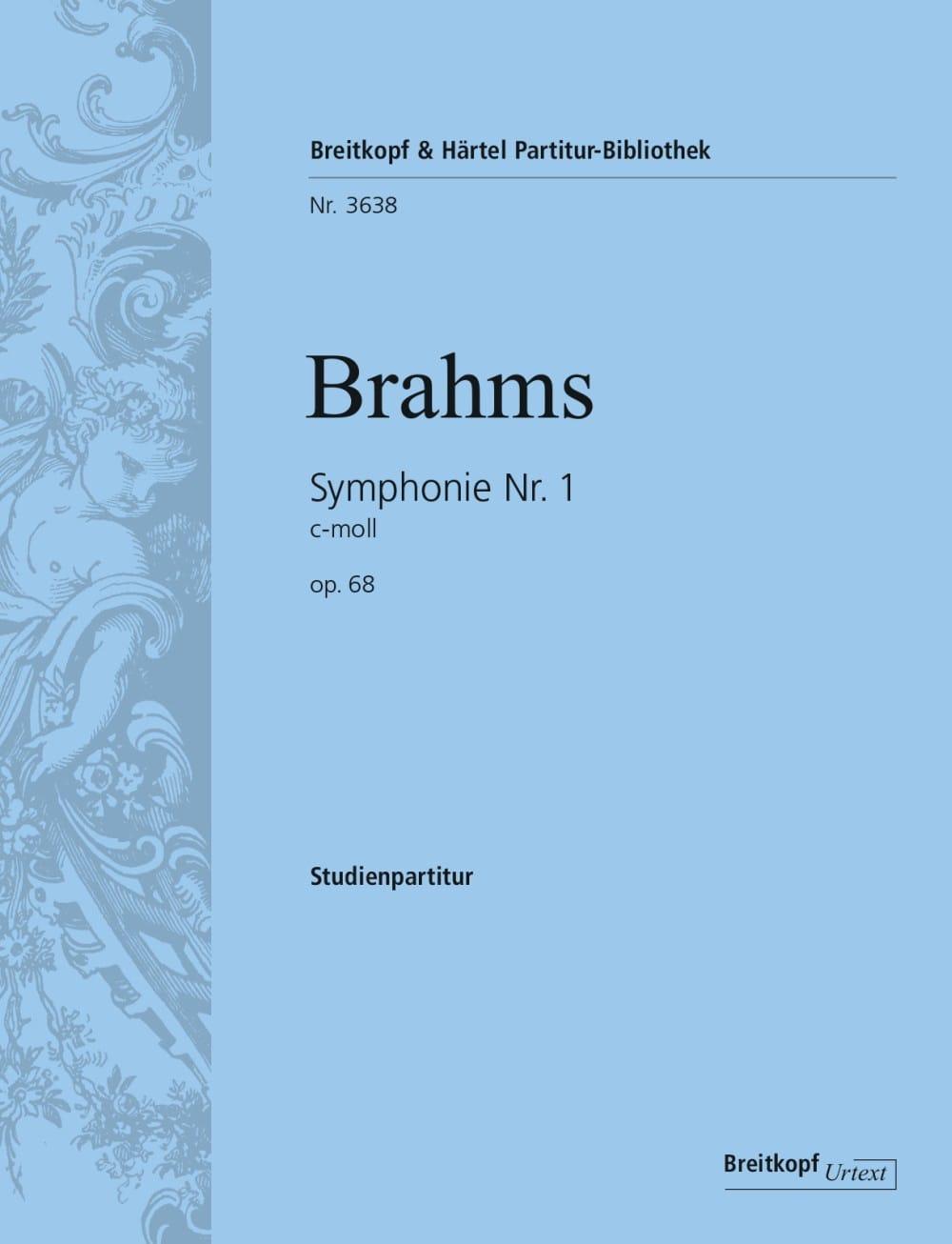 Symphonie N° 1 - Conducteur - BRAHMS - Partition - laflutedepan.com