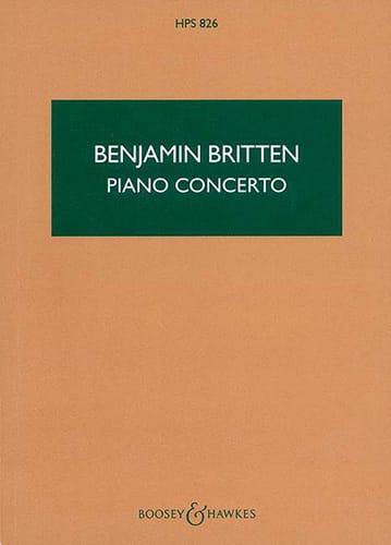 Concerto Piano op. 13 - Score - Benjamin Britten - laflutedepan.com