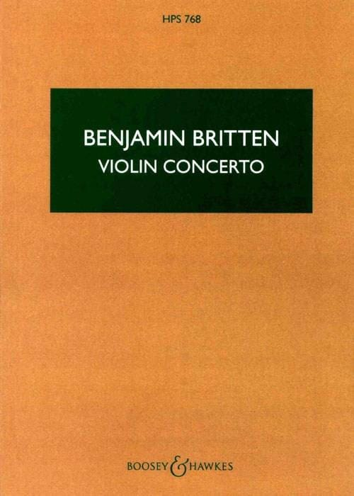 Benjamin Britten - Violin Concerto Op. 15 - Score - Partition - di-arezzo.co.uk
