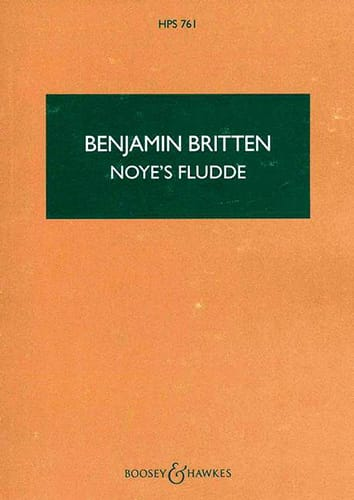 Benjamin Britten - Noye's Fludde - Score - Partition - di-arezzo.co.uk