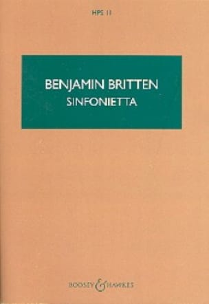 Benjamin Britten - Sinfonietta - Score - Partition - di-arezzo.co.uk
