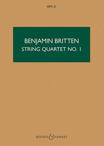 Benjamin Britten - String quartet n ° 1 op. 25 - Score - Partition - di-arezzo.co.uk