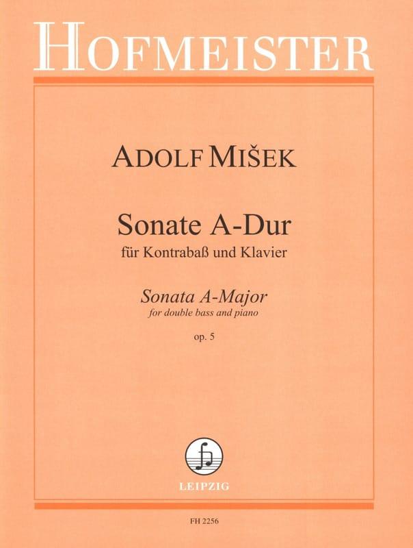 Adolf Misek - Sonata A-Dur op. 5 - Kontrabass Klavier - Partition - di-arezzo.co.uk