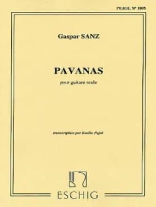 Pavanas - Gaspar Sanz - Partition - Guitare - laflutedepan.com