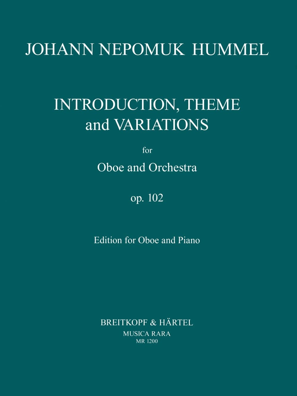 Introduction, Theme and Variations op. 102 - Oboe - laflutedepan.com