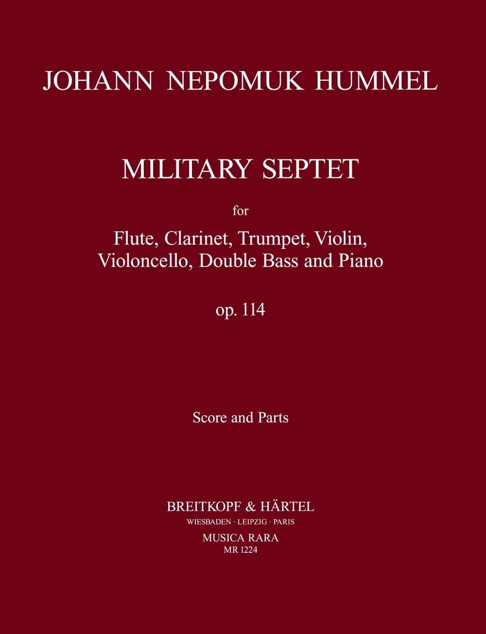 Military Septet op. 114 -Score + parts - HUMMEL - laflutedepan.com