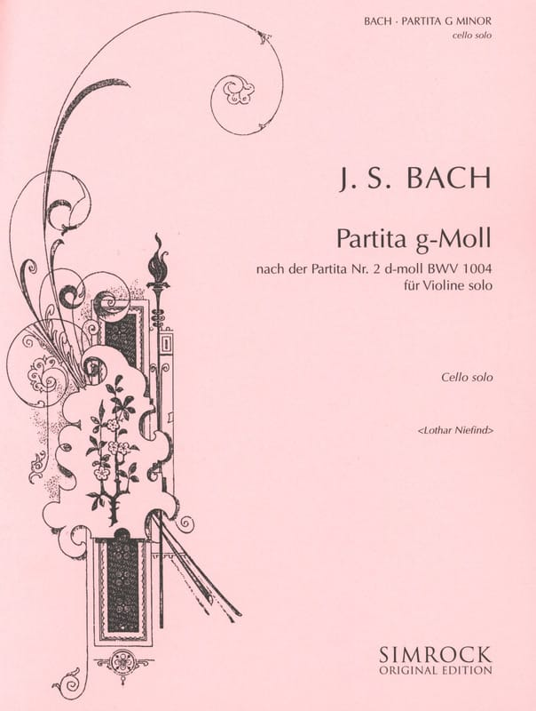 Partita g-moll - Cello Solo - BACH - Partition - laflutedepan.com