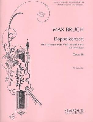 Max Bruch - Doppelkonzert op. 88 - Klarinette o. Violine Viola Klavier - Partition - di-arezzo.co.uk