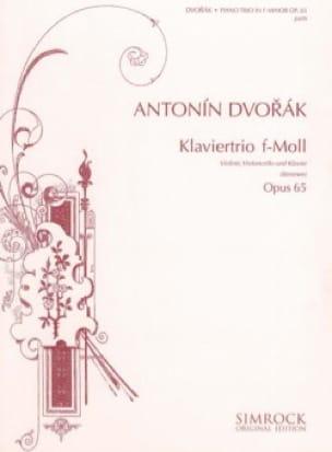 DVORAK - Klaviertrio f-moll op. 65 - Stimmen - Partition - di-arezzo.co.uk