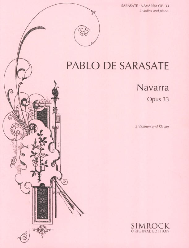 Navarra op. 33 -2 Violinen Klavier - SARASATE - laflutedepan.com