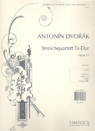 Streichquartett Es Dur op. 51 -Stimmen - DVORAK - laflutedepan.com