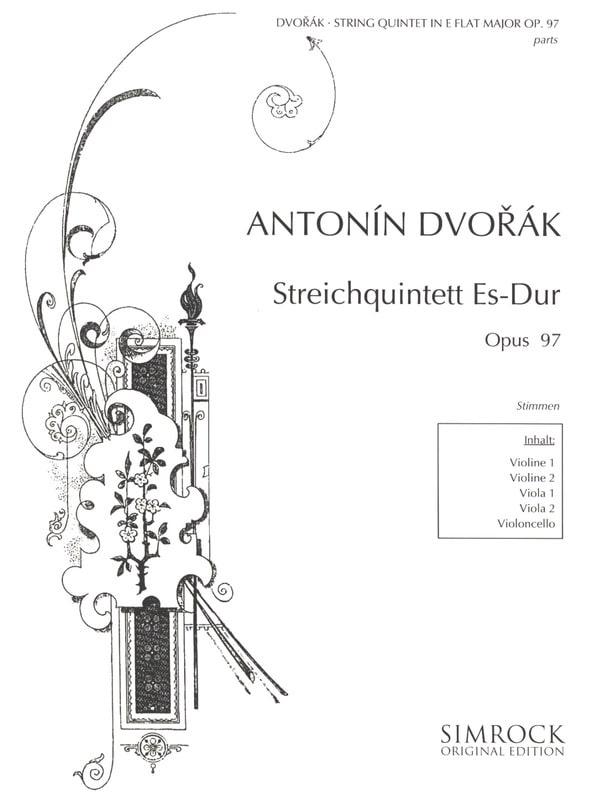 DVORAK - Streichquintett In Es-Dur Op. 97 - stimmen - Partition - di-arezzo.co.uk