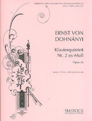 DOHNÁNYI - Klavierquintett n ° 2 es-moll - Stimmen - Partition - di-arezzo.es