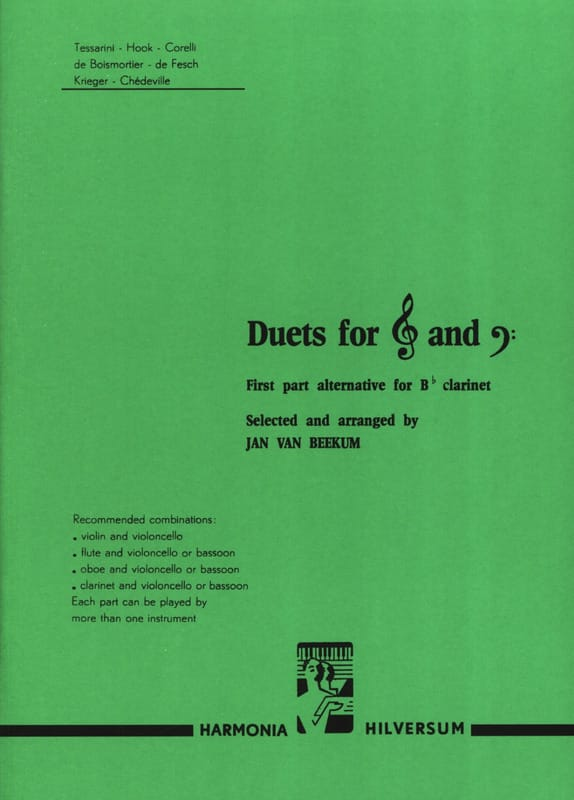 Duets for G clef and F - Partition - Duos - laflutedepan.com