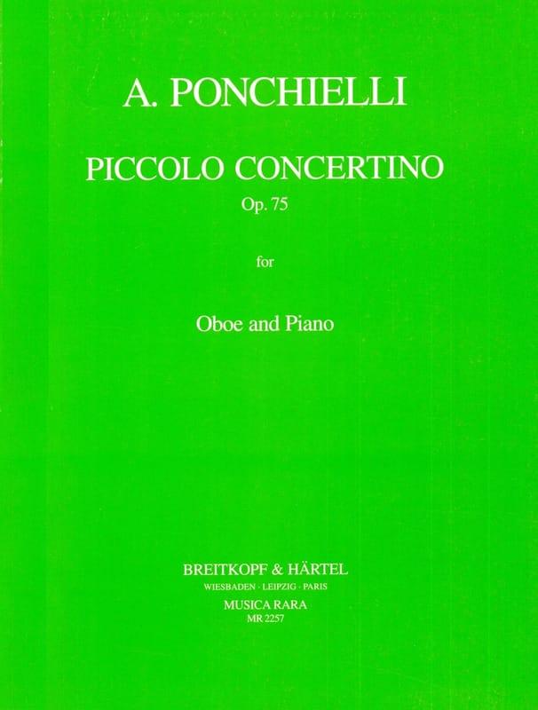 Amilcare Ponchielli - Piccolo concertino Op. 75 - Oboe piano - Partition - di-arezzo.co.uk