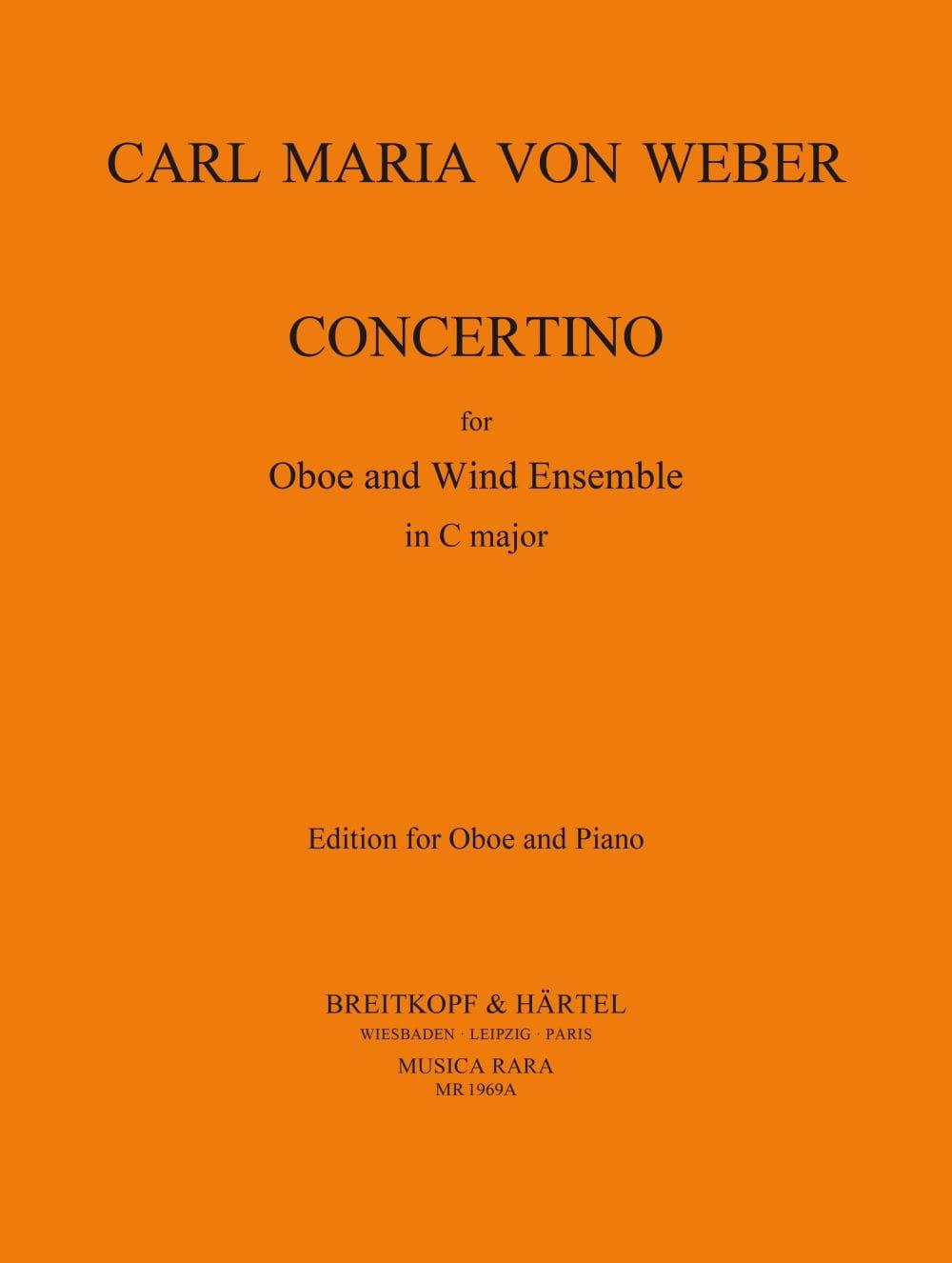 Concertino -Oboe piano - Carl Maria von Weber - laflutedepan.com