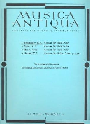 Franz Anton Hoffmeister - Konzert für Viola D-Dur - Partition - di-arezzo.de