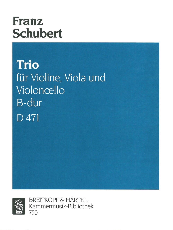 SCHUBERT - Trio B-Dur D 471 - Violine Viola Cello - Stimmen - Partition - di-arezzo.com