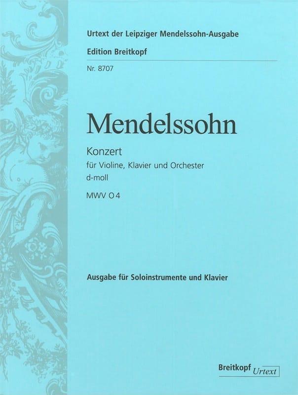 MENDELSSOHN - Konzert d-moll for Violine und Klavier - Partition - di-arezzo.co.uk