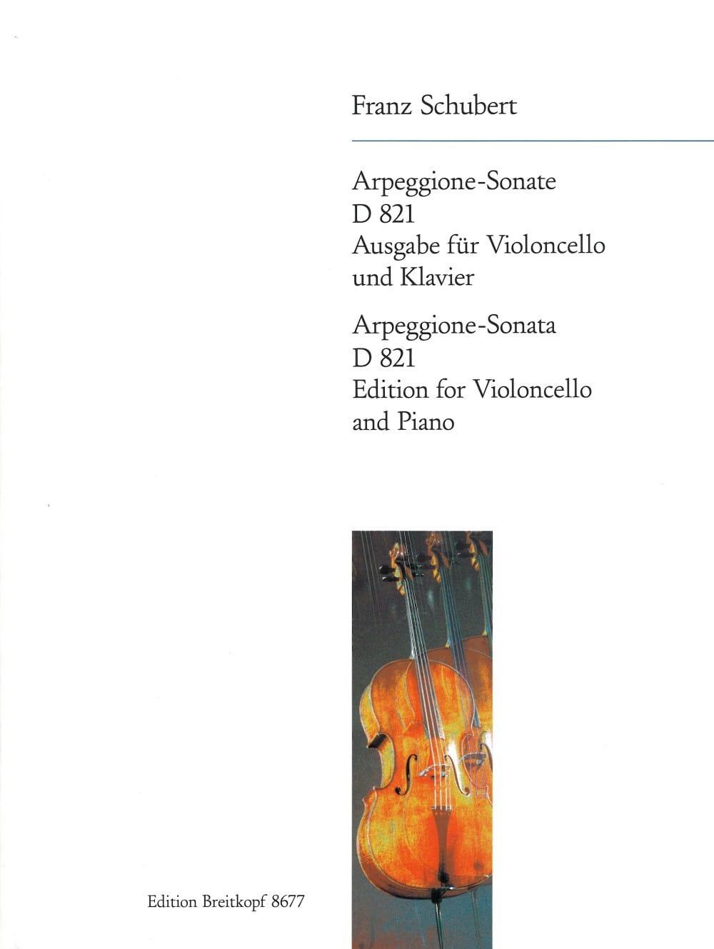SCHUBERT - Arpeggione-Sonata A Moll D 821 - Cello - Partition - di-arezzo.com