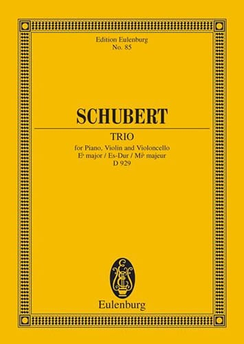 SCHUBERT - Trio in E Major B Op. 100 D 929 - Partition - di-arezzo.co.uk