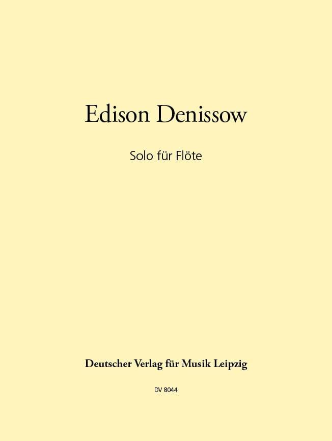 Solo für Flöte - Edison Denisov - Partition - laflutedepan.com