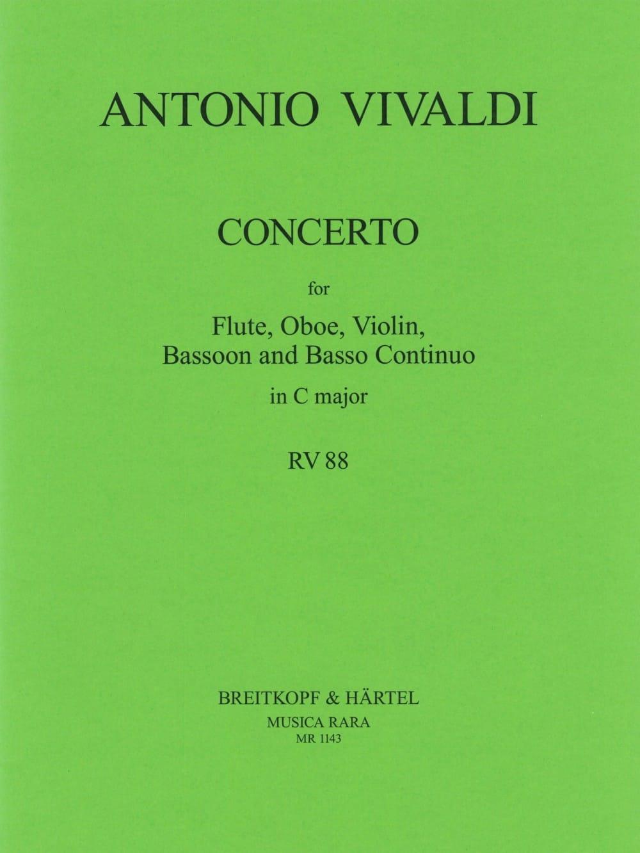 Concerto in C major RV 88 P. 82 - Flute oboe violin bassoon BC - laflutedepan.com