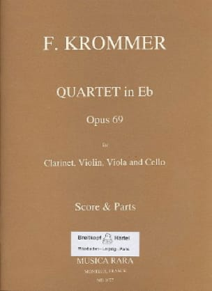 Quartet in Eb op. 69 - Clarinet violin viola cello - Score + Parts - laflutedepan.com