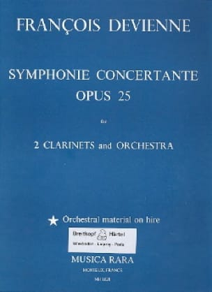 François Devienne - Concert Symphony op. 25 - 2 Klarinetten Klavier - Partition - di-arezzo.co.uk